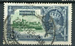 NORTHERN RHODESIA; 1935 early GV Jubilee issue fine used 2d. value