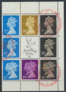 Great Britain  SG X906m Used  from London Life Booklet DX11 1990 see details ...