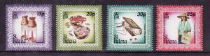 St Helena-Sc#728-31-unused NH set-Christmas-Island Crafts-1998-