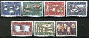 Greenland 1986-88, Old tools complete I-III sets MNH, Mi cat 13€