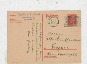 german 1929 motor car slogan cancel stamps cover Ref 9747