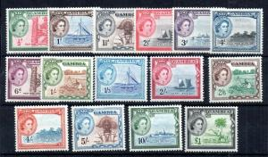 Gambia QEII 1953 Pictorial set mint LHM #171-185 WS13809