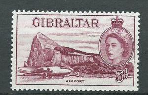 Gibraltar  SG 152b MVLH Deep Maroon  - aircraft
