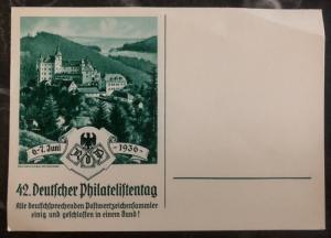 Unused Germany Postcard Cover German Philatelic Exhibition 1936 Green