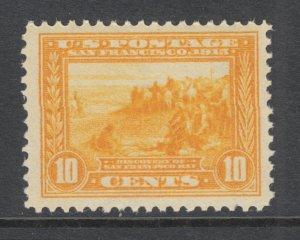 US Sc 400 MNH. 1913 10c orange yellow San Francisco Bay, Perf 12, fresh, VF