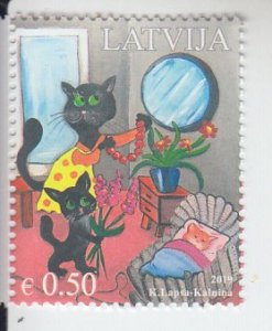 2019 Latvia Mothers Day Cats (Scott 1020) MNH