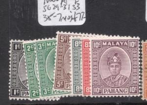 Malaya Pahang SG 29-31, 33, 35-7 MOG (8dma)