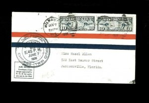 1st Flight Cover Chicago-Twin Cities 6-7-1926, Milwaukie WI. Net 7.50