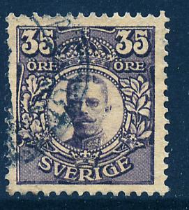 SWEDEN 87, 35o King Gustaf V, Used.