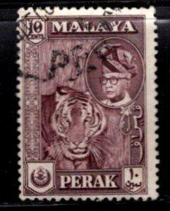 Malaya - Perak - #132 Tiger/Sultan - Used