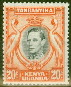 KUT 1938 20c Black & Orange SG139 Fine Mtd Mint