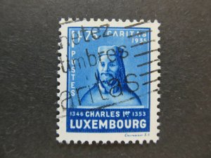 A5P21F188 Luxembourg Semi-Postal Stamp 1935 1.75fr+1.50fr very fine used