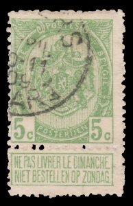 BELGIUM STAMP 1907. SCOTT # 84. USED. Item 6