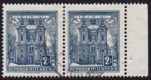Austria - 1958 - Scott #625 - used pair - Christkindl