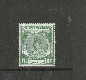 Malaya Perlis 1951/5 8c Green MM SG 14