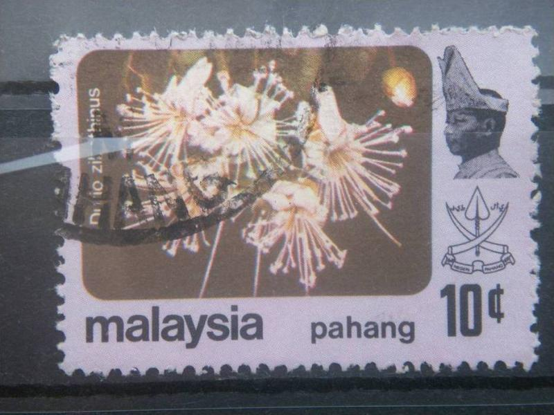 PAHANG, 1965, used 15c, Flowers Scott 84
