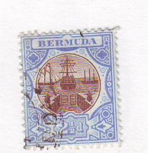 Bermuda Sc 37 1906 2 1/2d ship drydock stamp used