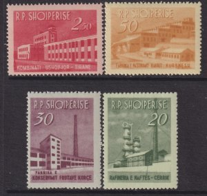 1963 Albania Production complete set MLH Sc# 672 / 675 CV $22.40 Stk #2