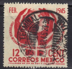 MEXICO  SC# 792 **USED**  12c  1945      SEE SCAN