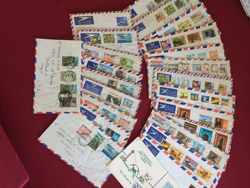 Rhodesia Nyasaland collection of about 25 airmail covers Topicals etc Nice group