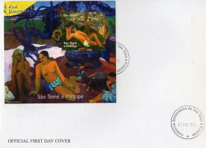Sao Tome and Principe 2005 Paul Gauguin Nudes Paintings S/S IMPERFORATED FDC