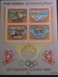 YEMEN-1984- 23RD-OLYMPIC GAMES-LOS ANGELES  MNH -S/S EST. $12 VERY FINE