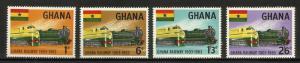 Ghana 1963 Trains Scott# 156-159 MNH