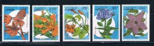 Congo MNH Set 1016-1020 Flowers (ML0218)