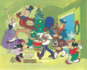 Lesotho 389   SS   Disney  Mint NH VF 1982 PD