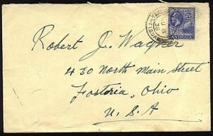 ANTIGUA 1938 GV 2½d on cover to USA...................22093