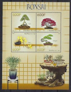 Congo MNH S/S Oriental Bonsai Trees 2014