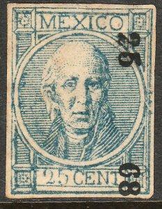 MEXICO-(Acapulco) 48, 25¢ 25-68 THIN FIGURES W/O DOT. UNUSED, NG. F-VF. (103)