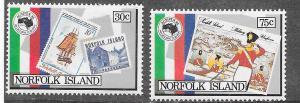 Norfolk Islands #344 & 346 AUSIPEX 84 (MNH) CV$1.75