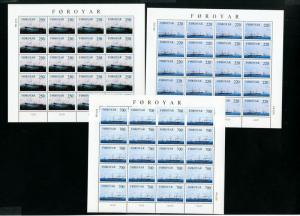 Faroe Islands Stamps 4x complete Set of Sheets NH Scott $275