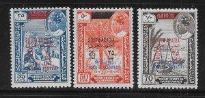 South Arabia Qu'aiti State Michel 68-70 Kennedy MNH c.v. 12 Euro