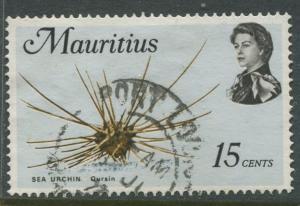 Mauritius -Scott 344 - Fish Definitive Issue -1969 - FU - Single 15c Stamp