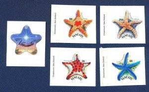 VANUATU - Scott 849-852 ,& 863  - FVF MNH - Starfish, star fish, Christmas- 2004