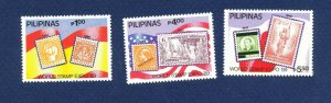 PHILIPPINES - # 2010A-C  - VFMNH - World Stamp Expo 1989