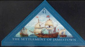 USA Scott 4136 Settlement of Jamestown self adhesive ship stamp
