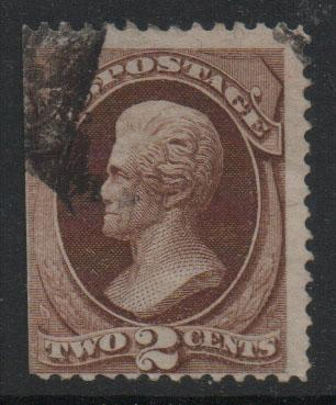 US Stamps 1870 - 71 Jackson  Sc146 2c Red Brown Stamp Used F
