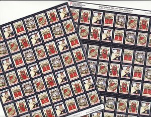2007 Spanish Text U.S. National Christmas Seals Sheet Collection