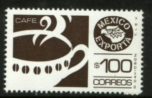 MEXICO Exporta 1470Ab $100P Coffee Perf 11 1/2 Paper 8. MINT, NH. F-VF.