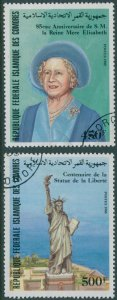 Comoro Islands 1985 SG560-561 Anniversaries FU