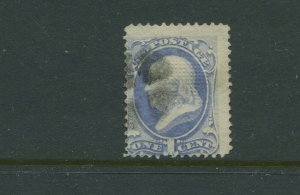 Scott 134A Franklin I-Grill Used Stamp    (Stock 134-A6)