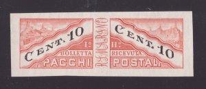 San Marino, 10 centesimi Pacchi Postali del 1945 non dentellato nuovo **  -CK91