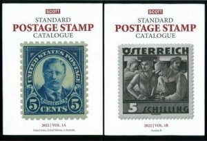 2022 Scott Standard Postage Stamp Catalogue Worldwide (US, A-B) Volume 1 A & B