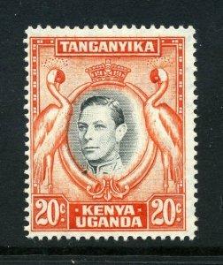 KUT 1938 KGVI 20c perf 14 SG 139a mint. Kenya Uganda Tanganyika