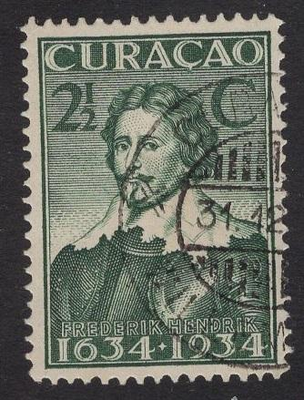 Netherlands Antilles  #113  1934 used  Curacao  300 yrs  2 1/2C