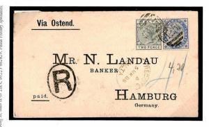 W601 Malta Registered Germany Cover 1888 {samwells-covers}