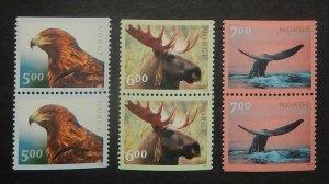 Norway 1253-55. 2000 Fauna, pairs, NH